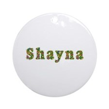 Shayna Floral Round Ornament