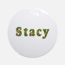 Stacy Floral Round Ornament