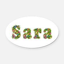 Sara Floral Oval Car Magnet