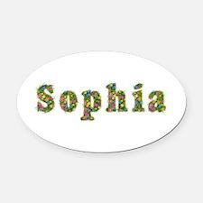 Sophia Floral Oval Car Magnet