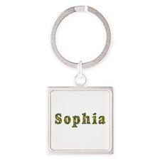 Sophia Floral Square Keychain