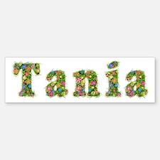 Tania Floral Bumper Bumper Bumper Sticker