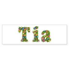 Tia Floral Bumper Bumper Sticker