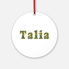 Talia Floral Round Ornament