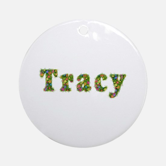 Tracy Floral Round Ornament