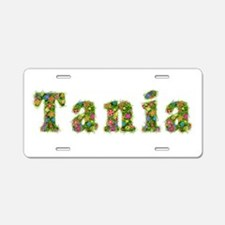 Tania Floral Aluminum License Plate
