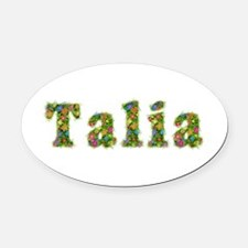 Talia Floral Oval Car Magnet