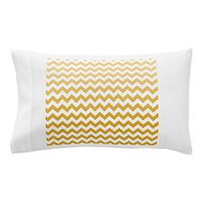 Chevron Stripes - Mustard Pillow Case