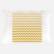 Chevron Stripes - Mustard Pillow Case