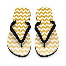 Chevron Stripes - Mustard Flip Flops