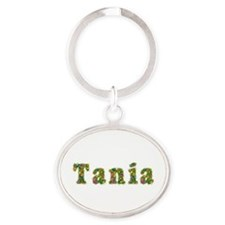 Tania Floral Oval Keychain