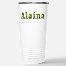 Alaina Floral Stainless Steel Travel Mug