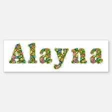 Alayna Floral Bumper Bumper Bumper Sticker