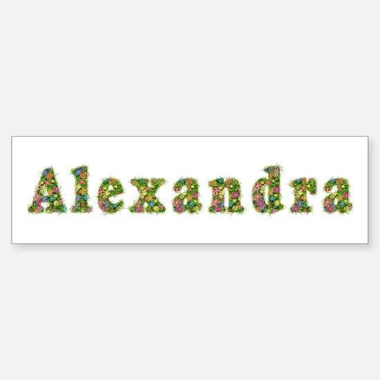 Alexandra Floral Bumper Bumper Bumper Sticker