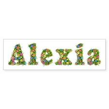 Alexia Floral Bumper Car Sticker