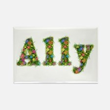Ally Floral Rectangle Magnet