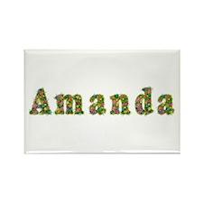 Amanda Floral Rectangle Magnet