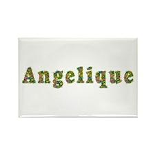 Angelique Floral Rectangle Magnet