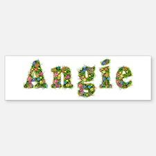 Angie Floral Bumper Bumper Bumper Sticker