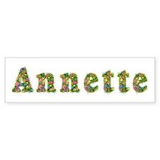 Annette Floral Bumper Bumper Sticker