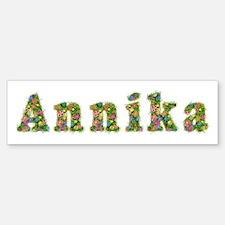 Annika Floral Bumper Bumper Bumper Sticker
