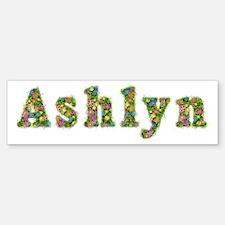 Ashlyn Floral Bumper Bumper Bumper Sticker