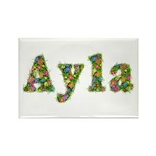 Ayla Floral Rectangle Magnet