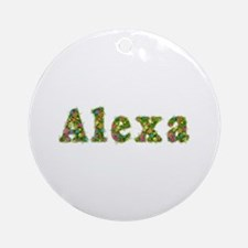 Alexa Floral Round Ornament