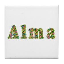 Alma Floral Tile Coaster