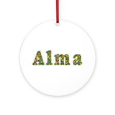 Alma Floral Round Ornament