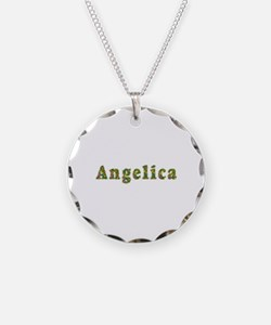 Angelica Floral Necklace Circle Charm