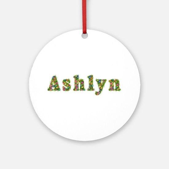 Ashlyn Floral Round Ornament