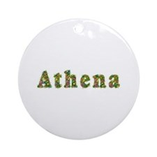 Athena Floral Round Ornament
