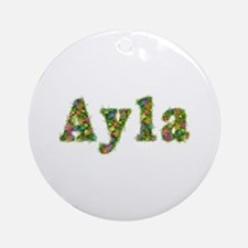 Ayla Floral Round Ornament