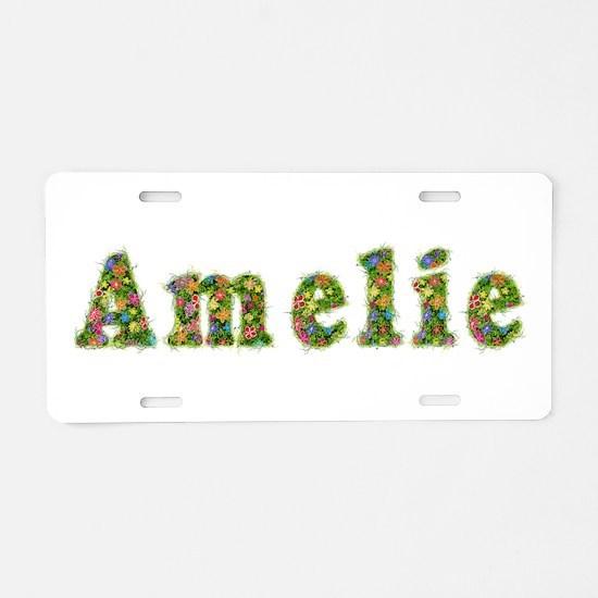 Amelie Floral Aluminum License Plate
