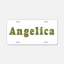 Angelica Floral Aluminum License Plate