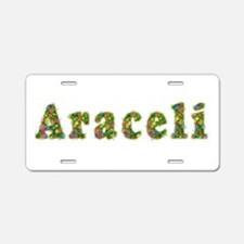 Araceli Floral Aluminum License Plate
