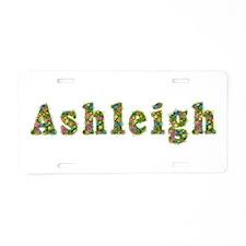 Ashleigh Floral Aluminum License Plate