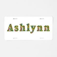 Ashlynn Floral Aluminum License Plate