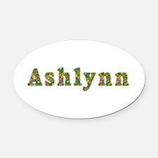 Ashlynn Floral Oval Car Magnet