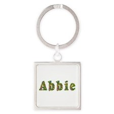 Abbie Floral Square Keychain