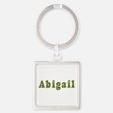 Abigail Floral Square Keychain
