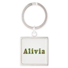 Alivia Floral Square Keychain