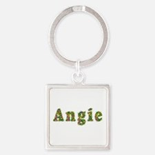 Angie Floral Square Keychain