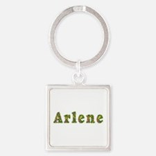 Arlene Floral Square Keychain