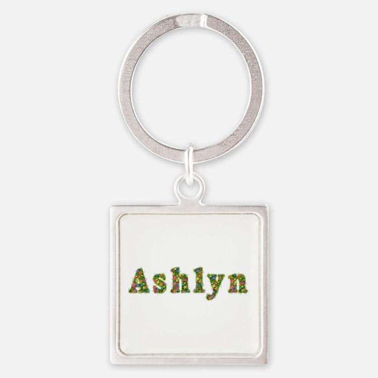 Ashlyn Floral Square Keychain