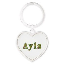 Ayla Floral Heart Keychain