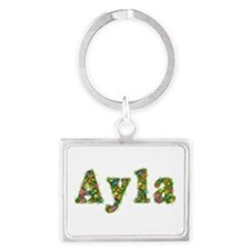 Ayla Floral Landscape Keychain