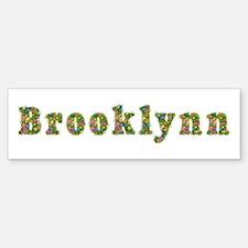 Brooklynn Floral Bumper Car Car Sticker