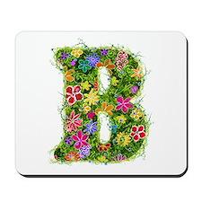 B Floral Mousepad